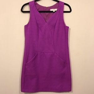 LOFT tweed dress beautiful purple size 6P